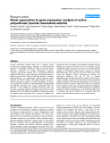 "Báo cáo y học: ""Novel approaches to gene expression analysis of active polyarticular juvenile rheumatoid arthritis."""