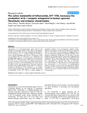 "Báo cáo y học: ""The active metabolite of leflunomide, A77 1726, increases the production of IL-1 receptor antagonist in human synovial fibroblasts and articular chondrocytes"""