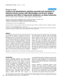 """Báo cáo y học: """"Cortisol and hypothalamic–pituitary–gonadal axis hormones in follicular-phase women with fibromyalgia and chronic fatigue syndrome and effect of depressive symptoms on these hormones"""""""