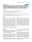 "Báo cáo y học: ""Nifedipine decreases sVCAM-1 concentrations and oxidative stress in systemic sclerosis but does not affect the concentrations of vascular endothelial growth factor or its soluble receptor"""