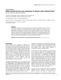 """Báo cáo y học: """"What should be the core outcomes in chronic pain clinical trials"""""""