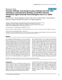 """Báo cáo y học: """"Acoustic stiffness and change in plug cartilage over time after autologous osteochondral grafting: correlation between ultrasound signal intensity and histological score in a rabbit model"""""""