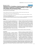 "Báo cáo y học: ""Resistance to IL-10 inhibition of interferon gamma production and expression of suppressor of cytokine signaling 1 in CD4+ T cells from patients with rheumatoid arthritis"""