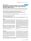 "Báo cáo y học: ""The response to oestrogen deprivation of the cartilage collagen degradation marker, CTX-II, is unique compared with other markers of collagen turnove"""