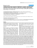"Báo cáo y học: ""Antirheumatic drug response signatures in human chondrocytes: potential molecular targets to stimulate cartilage regeneration"""