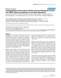 """Báo cáo y học: """"Susceptibility of rheumatoid arthritis synovial fibroblasts to FasLand TRAIL-induced apoptosis is cell cycle-dependent"""""""