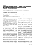 "Báo cáo y học: ""Innovative combination strategy to enhance effect and diminish adverse effects of glucocorticoids: another promise"""