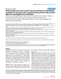 "Báo cáo y học: ""Reduced IgG anti-small nuclear ribonucleoprotein autoantibody production in systemic lupus erythematosus patients with positive IgM anti-cytomegalovirus antibodies"""