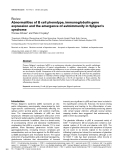"Báo cáo y học: ""Abnormalities of B cell phenotype, immunoglobulin gene expression and the emergence of autoimmunity in Sjögren's syndrome"""