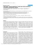 """Báo cáo y học: """"CD4+CD25+ immunoregulatory T cells may not be involved in controlling autoimmune arthritis"""""""