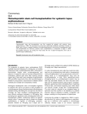 "Báo cáo y học: ""Hematopoietic stem cell transplantation for systemic lupus erythematosus"""