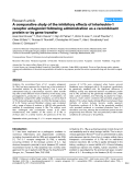 "Báo cáo y học: ""A comparative study of the inhibitory effects of interleukin-1 receptor antagonist following administration as a recombinant protein or by gene transfer."""