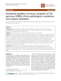 """Báo cáo khoa học: """"Intraductal papillary mucinous neoplasm of the pancreas (IPMN): clinico-pathological correlations and surgical indications"""""""