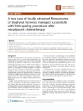 "Báo cáo khoa học: ""A rare case of locally advanced fibrosarcoma of diaphysal humerus managed successfully with limb-sparing procedures after neoadjuvant chemotherapy"""