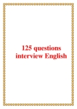125 questions interview English