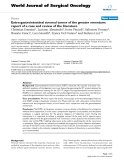 """Báo cáo khoa học: """"Extra-gastrointestinal stromal tumor of the greater omentum: report of a case and review of the literature"""""""