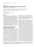 "Báo cáo y học: ""Amplification of autoimmune disease by infection"""
