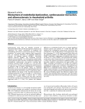 "Báo cáo y học: ""Biomarkers of endothelial dysfunction, cardiovascular risk factors and atherosclerosis in rheumatoid arthritis"""