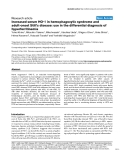 "Báo cáo y học: ""ncreased serum HO-1 in hemophagocytic syndrome and adult-onset Still's disease: use in the differential diagnosis of hyperferritinemia"""