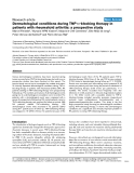 "Báo cáo y học: ""Dermatological conditions during TNF-α-blocking therapy in patients with rheumatoid arthritis: a prospective study"""