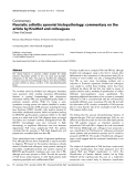 "Báo cáo y học: ""Psoriatic arthritis synovial histopathology: commentary on the article by Kruithof and colleagues"""