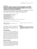 "Báo cáo y học: ""Correction: Clinical response to discontinuation of anti-TNF therapy in patients with ankylosing spondylitis after 3 years of continuous treatment with infliximab"""