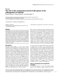 "Báo cáo y học: ""γ The role of the complement and the FcγR system in the pathogenesis of arthritis"""