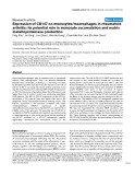 "Báo cáo y học: ""Expression of CD147 on monocytes/macrophages in rheumatoid arthritis: its potential role in monocyte accumulation and matrix metalloproteinase production"""