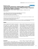 "Báo cáo y học: ""Antineutrophil cytoplasmic antibody (ANCA)-associated autoimmune diseases induced by antithyroid drugs: comparison with idiopathic ANCA vasculitides"""