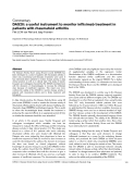 "Báo cáo y học: ""DAS28: a useful instrument to monitor infliximab treatment in patients with rheumatoid arthritis"""