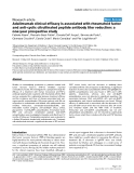 "Báo cáo y học: ""Adalimumab clinical efficacy is associated with rheumatoid factor and anti-cyclic citrullinated peptide antibody titer reduction: a one-year prospective study"""