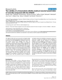 "Báo cáo y học: ""The validity of a rheumatoid arthritis medical records-based index of severity compared with the DAS28"""