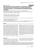"Báo cáo y học: ""Expression and function of inducible co-stimulator in patients with systemic lupus erythematosus: possible involvement in excessive interferon-γ and anti-double-stranded DNA antibody production"""