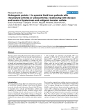 "Báo cáo y học: ""Osteogenic protein 1 in synovial fluid from patients with rheumatoid arthritis or osteoarthritis: relationship with disease and levels of hyaluronan and antigenic keratan sulfate"""