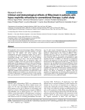"Báo cáo y học: ""Clinical and immunological effects of Rituximab in patients with lupus nephritis refractory to conventional therapy: a pilot study"""