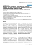 "Báo cáo y học: ""Validation of the International Classification of Functioning, Disability and Health (ICF) Core Set for rheumatoid arthritis from the patient perspective using focus group"""