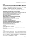"Báo cáo y học: "" Anti-inflammatory and immunosuppressive drugs and reproduction"""