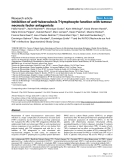 "Báo cáo y học: ""Inhibition of anti-tuberculosis T-lymphocyte function with tumour necrosis factor antagonists"""