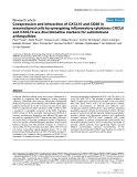 "Báo cáo y học: ""Coexpression and interaction of CXCL10 and CD26 in mesenchymal cells by synergising inflammatory cytokines: CXCL8 and CXCL10 are discriminative markers for autoimmune arthropathie"""