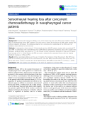 "Báo cáo khoa học: ""Sensorineural hearing loss after concurrent chemoradiotherapy in nasopharyngeal cancer patients"""