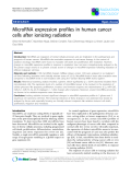 """Báo cáo khoa học: """"MicroRNA expression profiles in human cancer cells after ionizing radiation"""""""