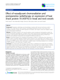 "Báo cáo khoa học: ""Effect of neoadjuvant chemoradiation and postoperative radiotherapy on expression of heat shock protein 70 (HSP70) in head and neck vessels"""