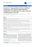 """Báo cáo khoa học: """"Concurrent image-guided intensity modulated radiotherapy and chemotherapy following neoadjuvant chemotherapy for locally advanced nasopharyngeal carcinoma"""""""