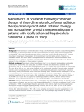 """Báo cáo khoa học: """"SemiMaintenance of Sorafenib following combined therapy of three-dimensional conformal radiation therapy/intensity-modulated radiation therapy and transcatheter arterial chemoembolization in patients with locally advanced hepatocellular carcinoma: a phase I/II study"""""""