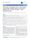 "Báo cáo khoa học: ""SemiWhole brain radiotherapy with a conformational external beam radiation boost for lung cancer patients with 1-3 brain metastasis: a multi institutional study"""