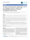 "Báo cáo khoa học: ""The effect of external beam radiotherapy volume on locoregional control in patients with locoregionally advanced or recurrent nonanaplastic thyroid cancer"""