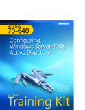 Microsoft Press mcts training kit 70 - 640 configuring windows server 2008 active directory phần 1