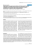 "Báo cáo y học: ""Association of cerebrospinal fluid anti-ribosomal P protein antibodies with diffuse psychiatric/neuropsychological syndromes in systemic lupus erythematosus"""