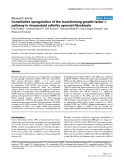 "Báo cáo y học: ""Constitutive upregulation of the transforming growth factor-β pathway in rheumatoid arthritis synovial fibroblasts"""