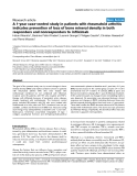 """Báo cáo y học: """" A 1-year case-control study in patients with rheumatoid arthritis indicates prevention of loss of bone mineral density in both responders and nonresponders to infliximab"""""""